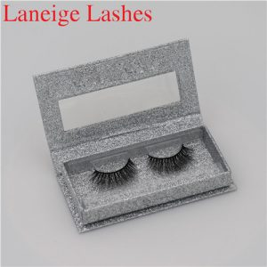 Hot Fashionable Colored Mink Fur False Eyelashes