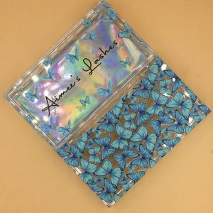 Blue Butterly Custom Lash Boxes