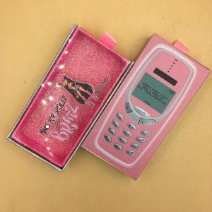 Cell Phone Eyelash Packaging Boxes