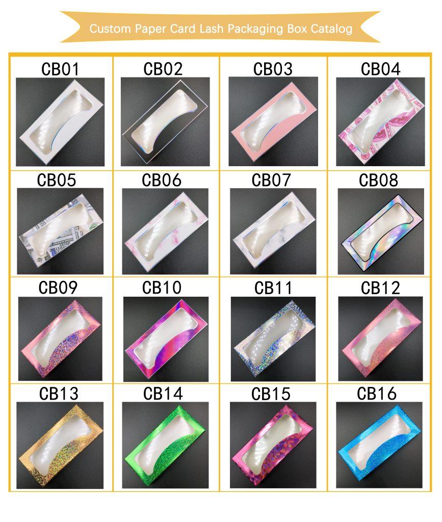 Custom Paper Card Lash Packaging Box Catalog