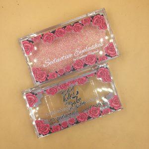 Rose Flower Custom Eyelash Packaging Boxes