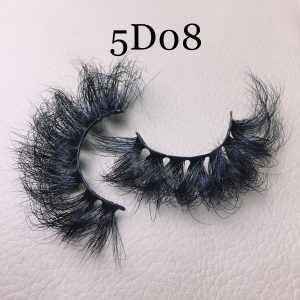 Fluffy 25mm mink lashes 5D08