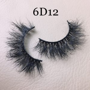 Fluffy 20mm mink lashes 6D12