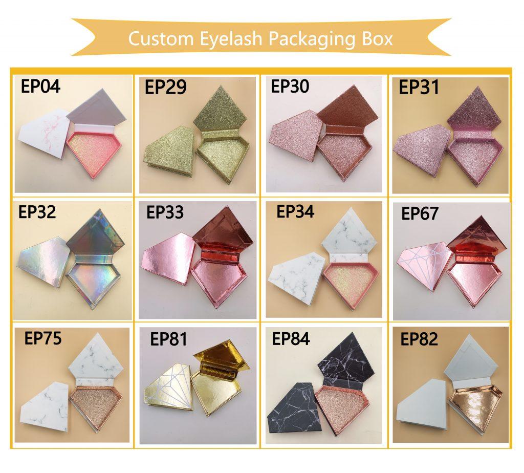Diamond eyelash custom box
