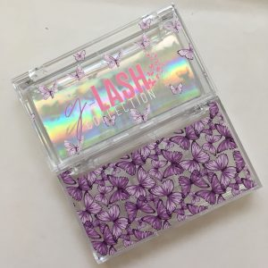 Acrylic Eyelash Packaging Boxes With Butterflies