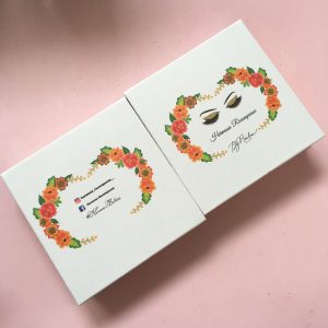 Square White Lash Box Design