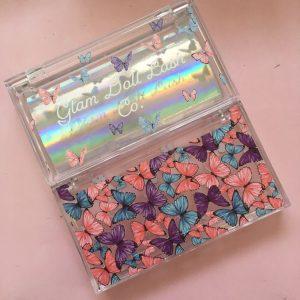 Colorfull Acrylic Custom Eyelash Packaging Boxes