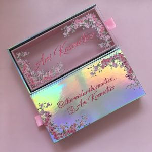 Pink Glitter Eyelash Packaging Box With Private Logo