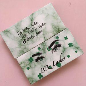 Green Marble Custom Eyelash Packaging