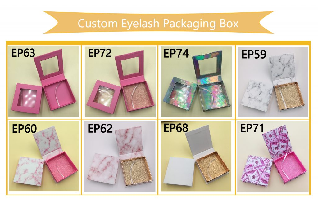 Square Custom Lash Boxes Eyelash Case