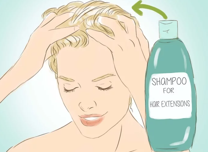Wash Hair Extensions Step 18