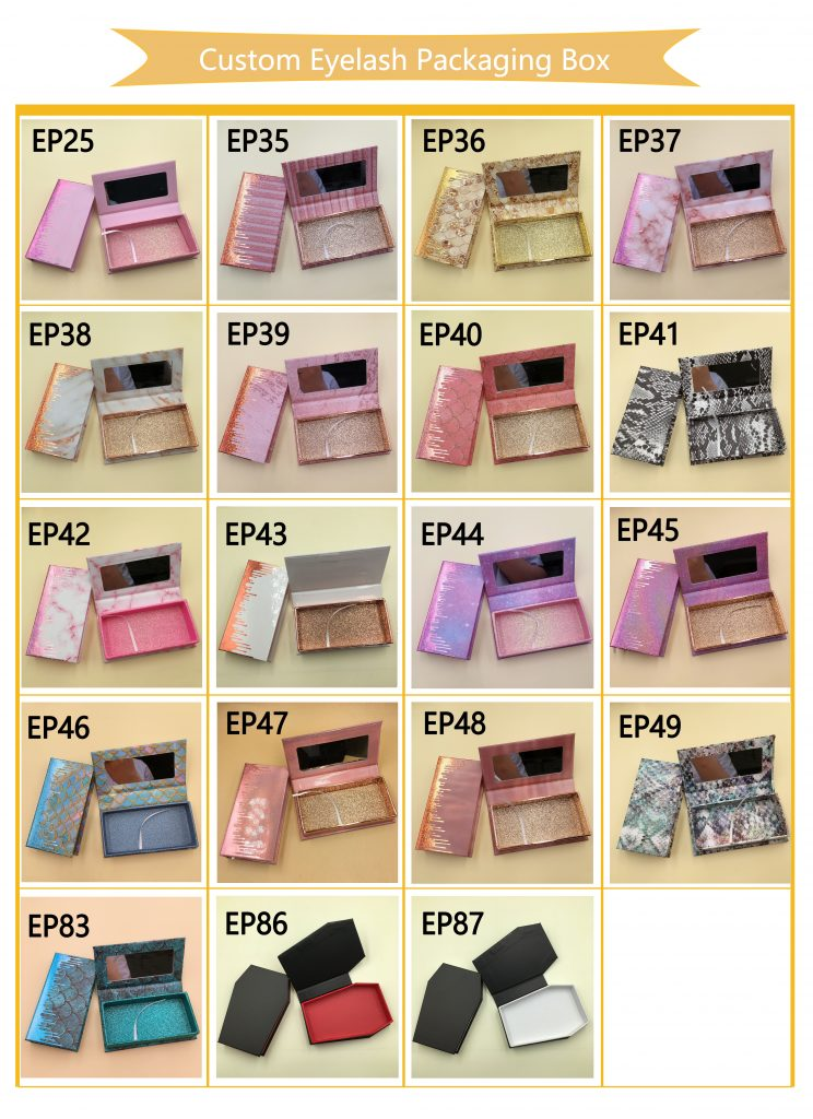 Custom Eyelash Packaging Eyelash Box
