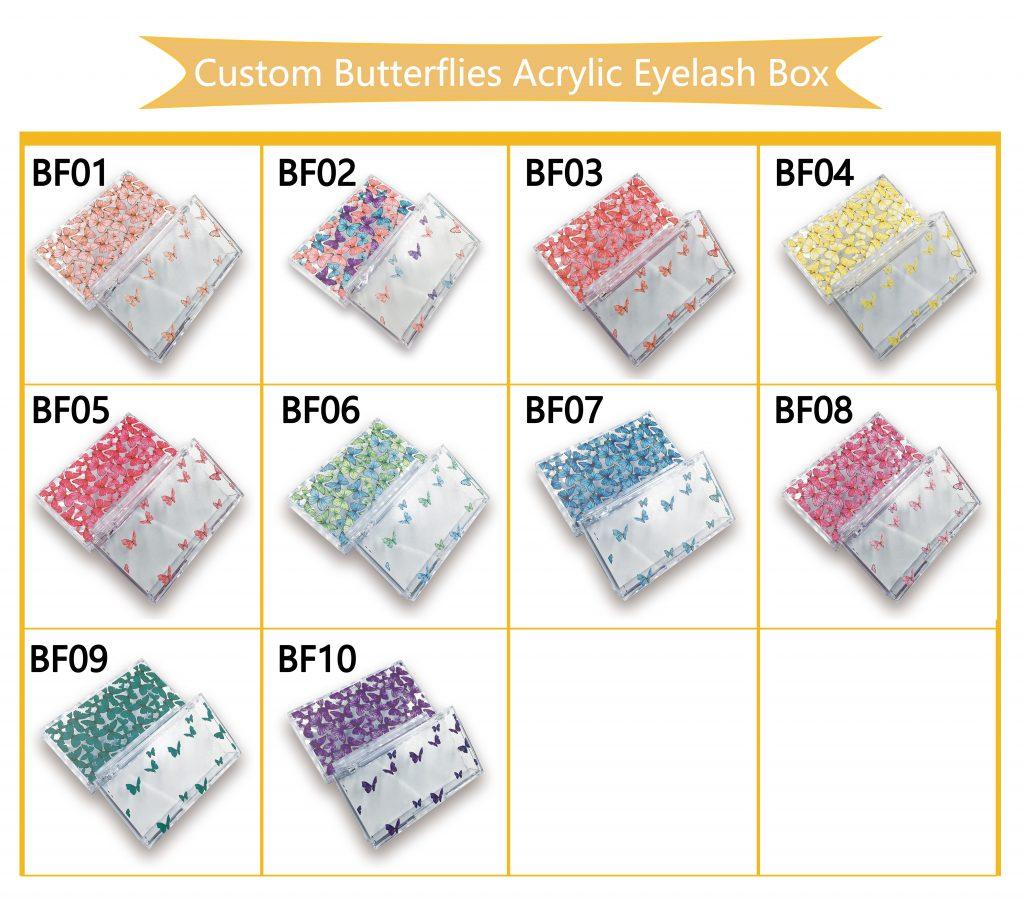Custom Butterflies Acrylic Eyelash Box