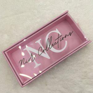 Pink custom eyelash boxes with logo