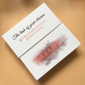 White custom eyelash packaging box
