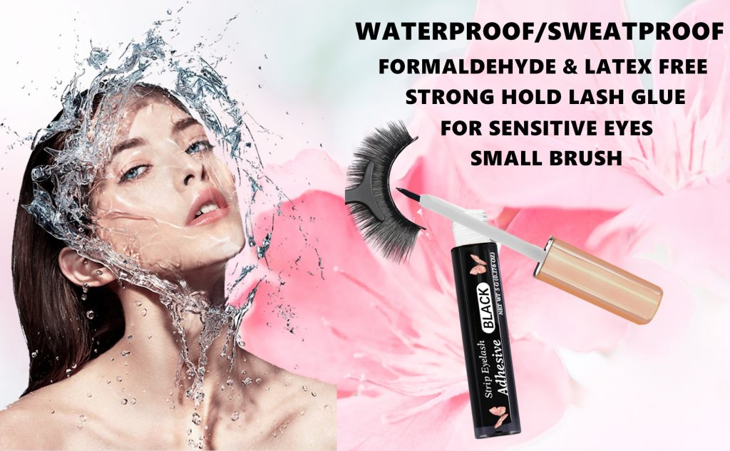 Eyelash Glue Strong Hold Lash Glue Eyelash Adhesive Latex-Free Waterproof False Eyelash Glue
